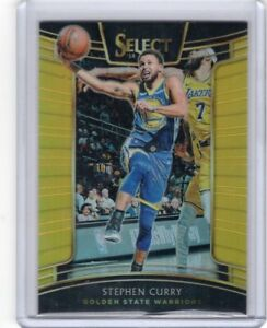 2018-19 Panini Select Stephen Curry Base Card Gold /10 Warriors