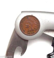 COIN COLLECTOR WINE DRINKER 1904 INDIAN HEAD & STAINLESS STEEL CIA CORKSCREW
