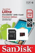 SanDisk 200GB Ultra Micro SD SDXC 90MB/s Class 10 UHS-I Mobile Memory Card new