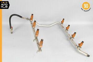 00-06 Mercedes W220 S500 ML500 CL500 Fuel Injection Rail Line w/ Injectors OEM