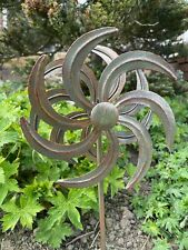 More details for garden very large flower wind spinner stake patio spiral windmill lawn (lh0379b)