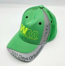 Waste Management Hat Reflective Green & Grey Open Back Adjustable 100 Days