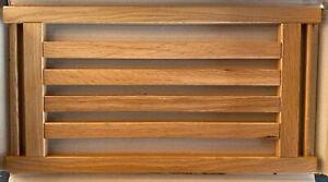 CLEARANCE, Slatted solid Oak or Beech wooden shelves wood shelf