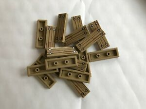 LEGO-NEW-#63864pb133-DARK TAN-TILE 1 X 3 W/ WOOD GRAIN PATTERN-8 PIECES