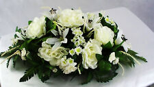 Wedding Centerpiece Reception Silk Table Flower Roses Lily Ivory White Party