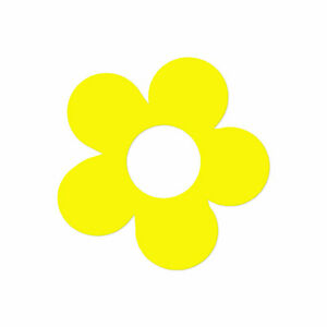 Minimalist Flower Petal - Decal Sticker - Multiple Colors & Sizes - ebn4052