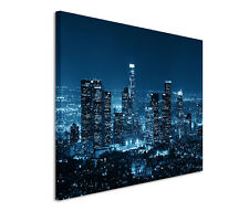 120x80cm Leinwandbild auf Keilrahmen Los Angeles bei Nacht