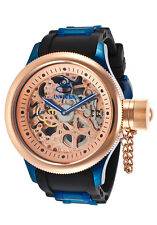 Invicta Russian Diver Mechanical Rose Skeleton Dial Polyurethane Mens Watch