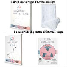 Emma & Noah 1 drap Bébé d'Emmaillotage + 1 GIGOTEUSE d'Emmaillotage