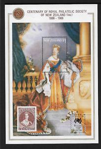 1988 NEW ZEALAND Centenary Royal Philatelic Society 'SYDPEX 88' Minisheet MNH
