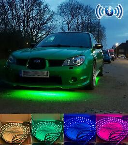 Bluetooth Control Multicolour Flexible Ground Undercar LED Neon UnderGlow phone