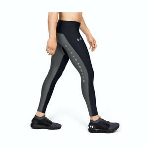 Under Armour Men's Black Qualifier Heat Gear Glare Tights 1329355