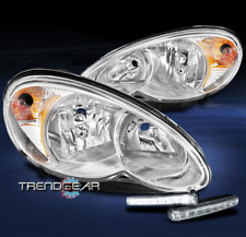 FOR 2006-2010 CHRYSLER PT CRUISER WAGON CHROME HEADLIGHTS LAMPS W/BUMPER LED DRL