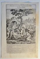 vermutl. Antonie WIERIX (c.1552-c.1624) Kupferstich um 1590: On met le....