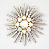 """Peruvian Sunburst Mirror 11.8"""" for wall decor, Accent Round Mirror from Peru"""