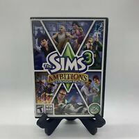 The Sims 3 Ambitions Macintosh PC Complete CIB Tested Expansion Pack