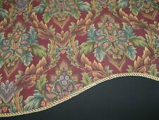 """TWO JC PENNY Tapestry HOME COLLECTION VALANCES 50"""" WIDTH X 21L"""" Sculpted edges"""