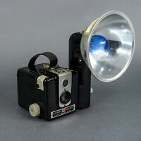 Vintage Kodak Brownie Hawkeye Camera  with Flash Holder and Original Manual