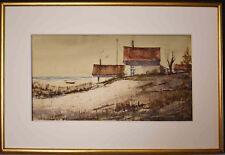 Listed American Artist Rolandas Vilkauskas Watercolor 'Seashore'