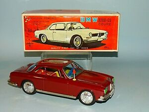 1960'S BMW 3200CS COUPE TIN FRICTION TOY ORIGINAL BOX ICHIKO JAPAN