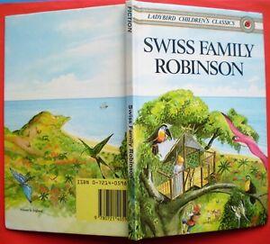Swiss Family Robinson vintage Ladybird book Children's Classics Johann Wyss
