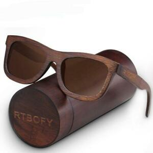 Luxurious Mahogany Handcrafted Hardwood Wayfarer Sunglass