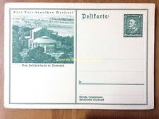 EBS Germany 1933 Postal Card Hitler's Relief Fund Wagner Bayreuth P249