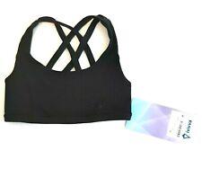 Ivivva by Lululemon Girls Size 6 Black Vitality Strappy Sports Dance Bra Top