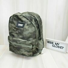 Victoria's Secret PINK Campus Backpack Green Camo Logo Bag Tote Padded NWT