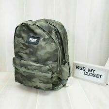 Victoria's Secret PINK Campus Backpack Green Camo Logo Bag Tote