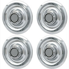 4 pc CHROME CHEVY GM Rally Wheel Center Hub Caps Disc Brake Rim Covers Trim Ring