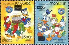 Togo 1986 Walt Disney/Donald Duck/Cartoons/Animation/StampEx 2v set (b1605e)
