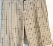 Adidas Plaid Cargo Short Ecru (42)