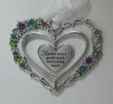 zzAa Nurses have a gentle touch caring heart Blooming Lovely 3d Ornament ganz