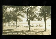 1930's RPPC Dock at Seever's Beach Resort on Leech Lake Walker MN    A9707