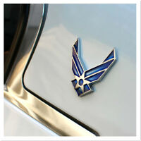 3D metal Blue air force logo car sticker decal USAF car Badge Emblem 1X décor