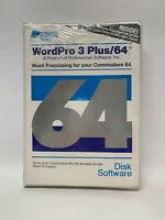 WordPro 3 Plus/64 -Commodore 64 Word Processing Software - 1984 - Sealed