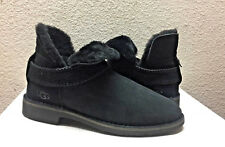 UGG MCKAY BLACK SUEDE SHEARLING ANKLE BOOTS US 8.5 / EU 39.5 / UK 6.5 - NEW