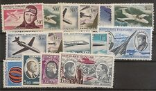 FRANCIA  Año Completos 1955/1973 Correo Aéreo Yvert 34/38**mnh  NL357