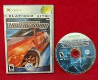 Need For Speed Underground Racing Microsoft XBOX OG Rare Game Tested