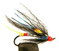 Salmon Fly, Night Hawk, Single Hook. (3-pack) Pick a size. Fly Fishing Fly