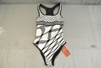 Missoni Mare Fiammata One-Piece Swimsuit, Women's Size 38, White/Black NEW