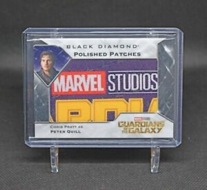 2021 Upper Deck Marvel Black Diamond Polished Patches GOTG Logo Peter Quill 🔥
