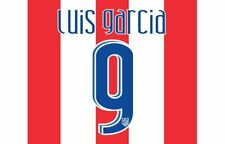 Luis Garcia #9 Atletico Madrid 2007-2008 Home Football Nameset for shirt