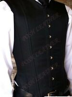 Men's Cotton Twill Fully Steel Boned Corset Vest style Back Lacing Shaper Active