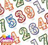 Polka Dot Colour Outline Candle Birthday Party Cake Topper Decoration