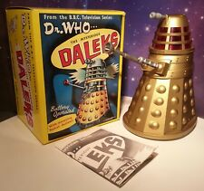 Dr Who Mysterious Dalek Gold Bump and Go Marx Toys Dapol Vintage Classic Figure