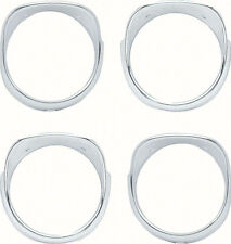 OER K512 1965 Chevrolet Impala Bel Air Biscayn Headlamp 4 Piece Bezel Set