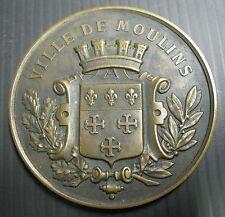 Médaille CAISSE D'ÉPARGNE VILLE DE MOULINS  - Fondée en 1835