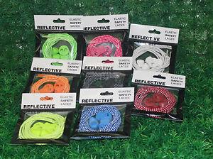 iRun Reflective 3M Scotchlite Elastic Lock Laces UK No Tie Safety  Shoelaces